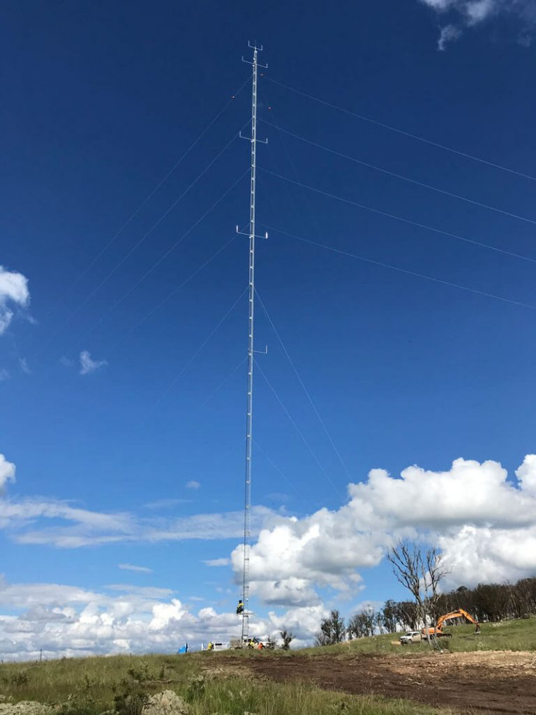Winterbourne Wind Farm Monitoring Masts